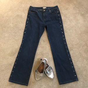 Michael Kors silver studded jeans